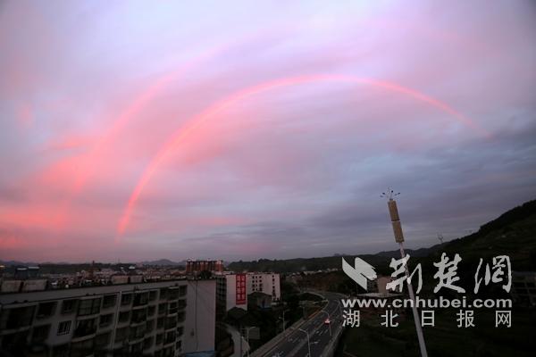 奇觀!雙彩虹驚艷竹山