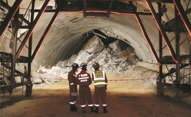 廣西百色一在建隧道塌方 3名十堰老鄉被困
